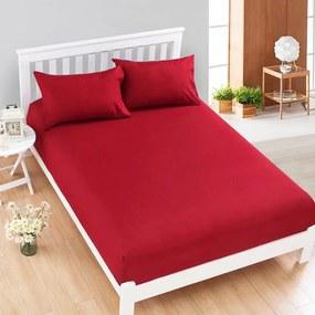 HoD Napínacia plachta Jersey+ Červená  Bavlna 90x200 cm
