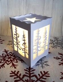 Vianočná lampa Lesík LED