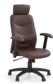 HALMAR Stilo kancelárske kreslo s podrúčkami hnedá