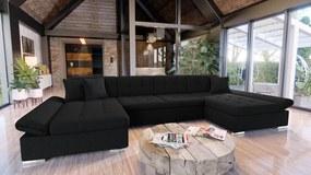 Luxusná sedacia súprava Agapi, čierna