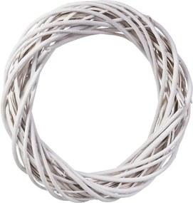 ČistéDrevo Prútený veniec biely 42 cm