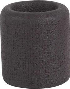 PRESENT TIME Sada 3 ks: Čierny keramický svietnik Burly