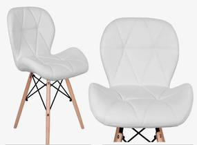 Jedálenská stolička EKO biela - škandinávsky štýl