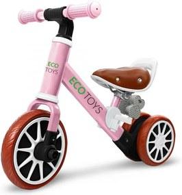 Odrážadlo/bicykel 2v1 Pink, Eco Toys