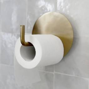 HOUSE DOCTOR Sada 2 ks − Mosadzný držiak na toaletný papier Text
