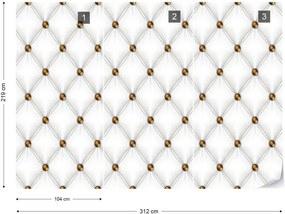 Fototapeta GLIX - Luxury White Chesterfield  + lepidlo ZADARMO Vliesová tapeta  - 254x184 cm