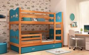 Detská poschodová posteľ MAX 185x80 modrá