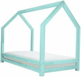 FUNNY detská posteľ Tyrkysová 120 x 200 cm