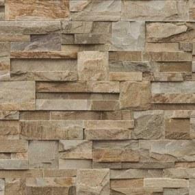 Vliesové tapety, kamenný obklad, Roll in Stones J18427, UGEPA, rozmer 10,05 m x 0,53 m