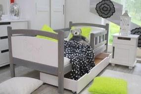 OVN detská posteľ BENIO 80x160 sivá/biela+rošt