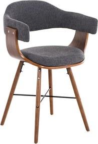 Konferenčná / jedálenská stolička drevená Dancer II. textil (SET 2 ks)