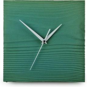 Gakobe Designové nástenné betónové hodiny SQUARE S Tu si vyber farbu hodín -DVOJKLIK NA FARBU-: Zelená, Tu si vyber farbu ručičiek              -DVOJKLIK NA FARBU-: Biele
