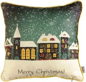Vianočná obliečka na vankúš Apolena Comfort Snowy, 43 × 43 cm