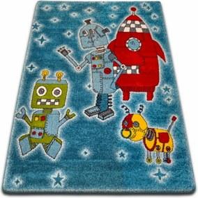 Detský kusový koberec Roboti modrý, Velikosti 140x190cm
