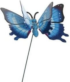 Dekorácia Motýlik modrá, 15 cm
