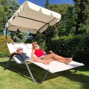 Relaxačné lehátko pro 2 osoby Craftfield PALACE -bežová