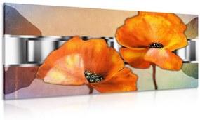 Obraz kvety v orientálnom štýle