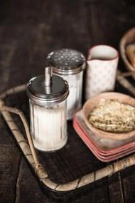 IB LAURSEN Sklenená cukornička s dávkovačom Glass