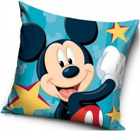 Vankúš Mickey Mouse - Disney - motív Hviezdy - 40 x 40 cm