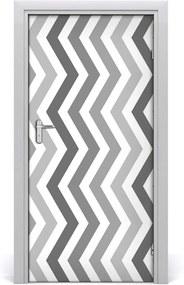 Samolepiace fototapety na dvere  šedé čiary