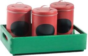 ČistéDrevo Drevená bednička 30x20x7 cm - mätovo zelená