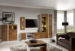 TARANKO Siena obývacia izba dub mocca / biela