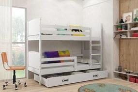Poschodová posteľ - TAMI - 190x80cm - BIELA - BIELA