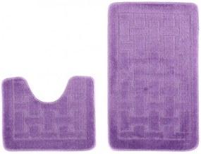 Kúpeľňové predložky 1039 tmavo fialové 2Ks, Velikosti 50x80cm