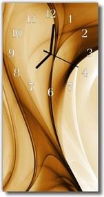 Sklenené hodiny vertikálne  Umenie Grafické umenie béžovej
