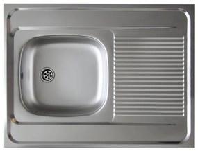 TEMPO KONDELA Lay ON nerezový kuchynský drez 80x60 cm nerezová
