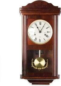 Nástenné kyvadlové hodiny THESEUS mahagón - 60 cm