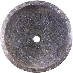 Umývadlo z prírodného kameňa Gemma 501 leštený mramor Ø 45 cm Grey