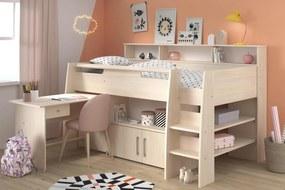 Detská multifunkčná posteľ s písacím stolom Kurt pre dievča