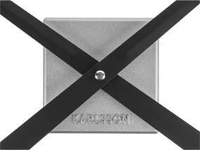 Karlsson Kreatívne nástenné hodiny - Karlsson DIY Cubic Silver
