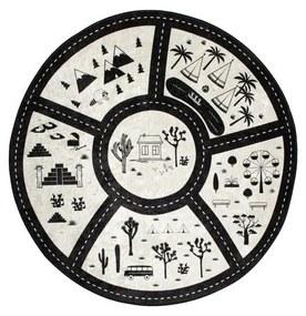 Detský koberec Black City, ⌀ 140 cm