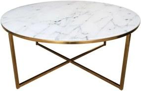 Konferenční stolek Venice, zlatá podnož, 80 cm SCHDN0000057547S SCANDI+