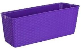Truhlík samozavlažovací 30 cm fialová,