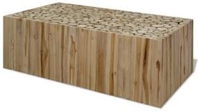 vidaXL Konferenčný stolík, pravé teakové drevo, 90x50x35 cm