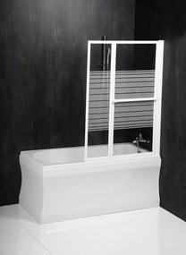 POLYSAN - VENUS 2 pneumatická vanová zástěna 1060 mm, bílý rám, potištěné sklo (36127)