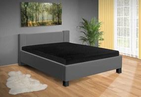 Nabytekmorava Moderná posteľ Fanny 140x200 cm matrac: matrace 15 cm, farba čalúnenie: eko koža biela, úložný priestor: s úložným priestorom