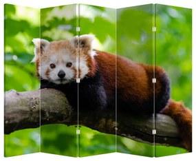 Paraván - Panda červená (225 x 180 cm)