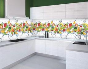 Fototapeta na kuchynskú linku Ovocie vlies 250 x 43 cm