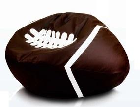 INTERMEDIC Sedací vak Rugby ekokoža - ekokoža E13 - hneda