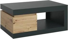 Sconto Konferenčný stolík LUCI dub artisan/sivá