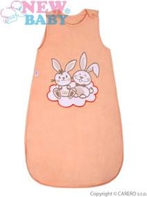 New Baby Spací vak Bunnies 86 oranžový