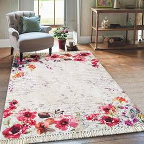 DomTextilu Krásny koberec do obývačky s výraznými kvetmi 19706-135156