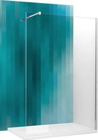 Roltechnik Sanipro pevná stena Walk Pro 800 brillant transparent