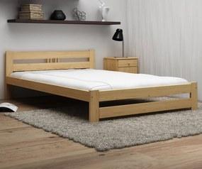 AMI nábytok Postel borovice není lakovaná LUX VitBed 120x200cm + pěnová matrace 14cm