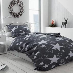 Bavlnené obliečky Star bridlicová