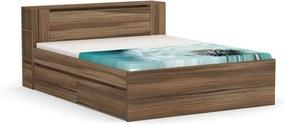 DREVONA Manželská posteľ orech rock 160 cm REA AMY